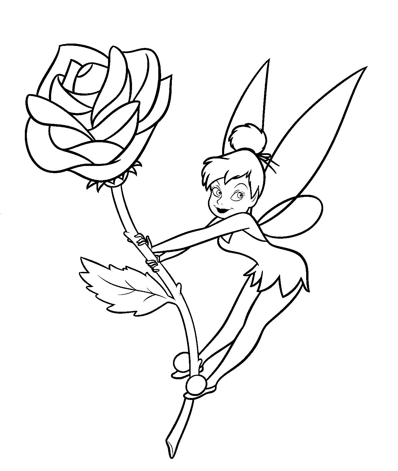 tinkerbell coloring tinkerbell coloring pages team colors coloring tinkerbell