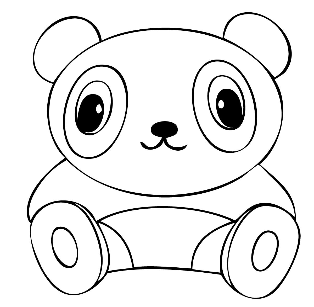 coloring panda panda cute drawing at getdrawings free download panda coloring