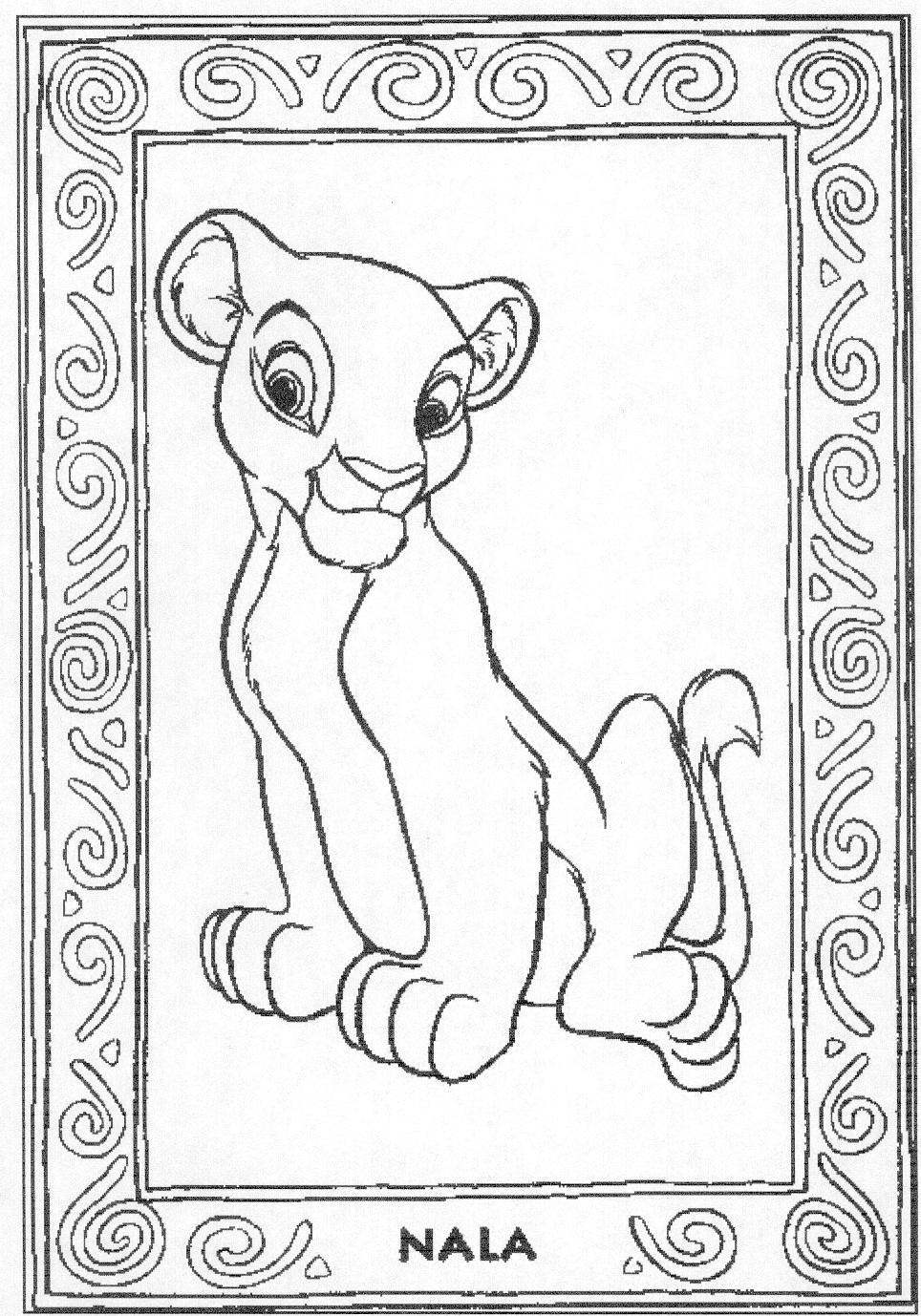 free lion king coloring pages simba and nala coloring pages  coloring home pages lion free king coloring